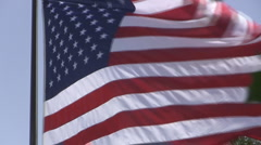 Old Glory Waving Stock Footage