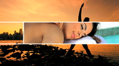 Montage of People in Stress Relieving Relaxation Stock Footage