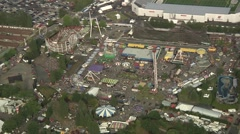 Aerial Playland at PNE Stock Footage