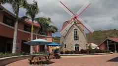 St. Thomas windmill Stock Footage