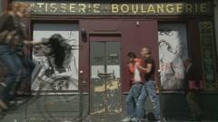 Patisserie in Paris Stock Footage