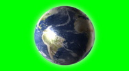 World universe digital company business internet earth globe green screen Stock Footage