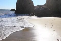 Ocean Waves with Rocks Stock Footage