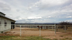 Ranchscape Horse in Background HD 30P 5s - stock footage