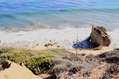 Down Cliff Ocean Stock Footage