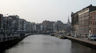 City scenic from Amsterdam in the Netherlands Stock Footage