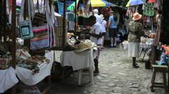 Dominica Roseau market 1 - stock footage
