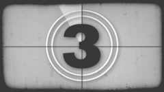 Film Leader Countdown Stock Footage
