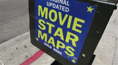 Movie Star Maps 01 HD Stock Footage