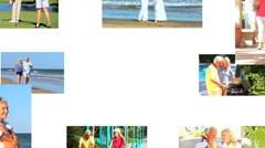 Montage of Senior Couple Enjoying Their Healthy Lifestyle - stock footage