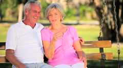 Lifestyle Montage of Contented Senior Couple - stock footage