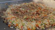 Tepanyaki Yakimeshi Rice Prepared (HD) Stock Footage