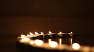 Candles, fire Stock Footage