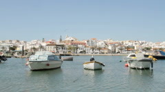 Harbor from Lagos in Portugal - stock footage
