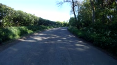 Stock Video Footage of driving along a country lane