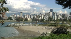 Autumn at Kits Point, Vancouver B.C. Stock Footage