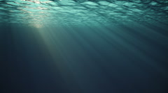 Underwater w/ sunlight Stock Footage