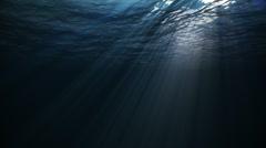 Underwater w/ sunlight Stock Footage