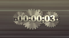 Countdown-Gears1 - stock footage