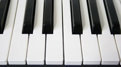 Stock Video Footage of piano keys loopable motion
