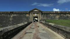 San Juan El Morro entrance Stock Footage
