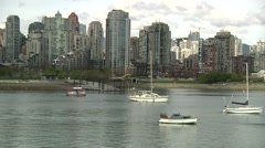 Charleson Park, False Creek, Vancouver B.C. - stock footage