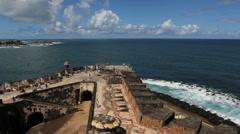 San Juan El Morro seaward - stock footage