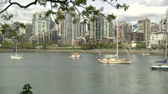 Charleson Park, False Creek, Vancouver B.C. Stock Footage