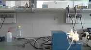Stock Video Footage of Dolly movement through a molecular biology laboratory