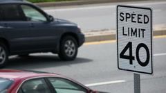 Speed Limit posting - stock footage