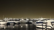 Infrared Finland: motorboats and yachts near Helsinki harbor 14 Stock Footage