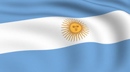 Flying flag of argentina | looped | Stock Footage
