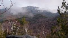 Timelapse View of Mt Marcy tallest mountain in NY state - stock footage
