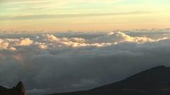 Haleakala Mountain Maui Hawaii Sunrise Stock Footage