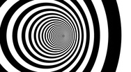 Stock Video Footage of Optical illusion target tunnel retro spiral hypnosis circle circles time loop