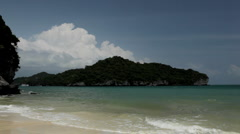 Beautiful tropical and exotic beach, Ang Thong Island, Thailand Stock Footage