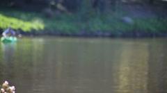 defocused boater drifting - stock footage