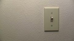 Saving Power Turning Off Light Switch - stock footage