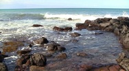 Stock Video Footage of Sea Ocean Coast Rocks on Pacific Ocean