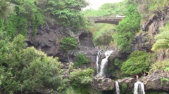Seven Sacred Pools in Maui Hawaii Stock Footage