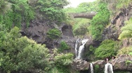 Stock Video Footage of Seven Sacred Pools in Maui Hawaii
