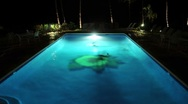 Stock Video Footage of Swimming in a Large Pool