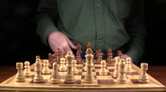 Time lapse of Chess in a dark room Stock Footage