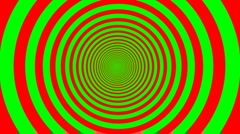 Optical illusion target tunnel retro spiral hypnosis circle circles time loop - stock footage