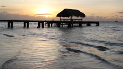 Tropical Beach Sunset Tobago Stock Footage