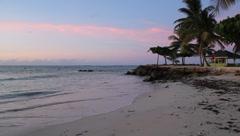Tropical Beach Sunset Tobago Stock Footage