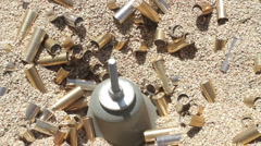 Pistol bullet brass cleaning P HD 8315 Stock Footage