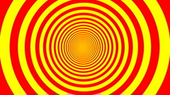 Optical illusion target tunnel retro spiral hypnosis circle circles time loop Stock Footage