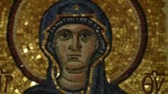 Greek Orthodox Icon Stock Footage