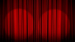 Curtain Light Open Stock Footage